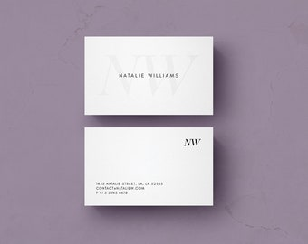 Business card template etsy business card template design microsoft word and photoshop files instant digital download natalie cheaphphosting Images