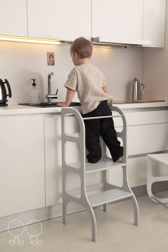 helper tower step up toddler kitchen step stool montessori learning stool - Toddler Kitchen