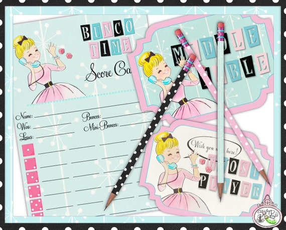 photo regarding Game Covers Printable named Bunco Year Classic-Ranking Card-Desk Symptoms-Pencil Addresses