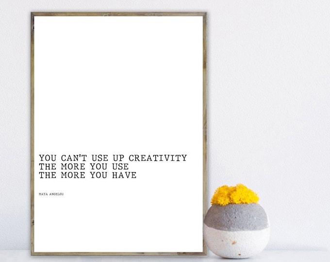 Stampa con citazione poetica. Maya Angelou. Stampa tipografica. Stile scandinavo. Stile nordico. Home decor. Regalo per lei. Regalo per lui.