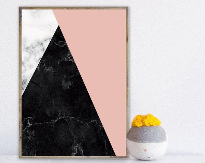 Stampa con arte astratta. Poster con arte geometrica. Arte moderna.