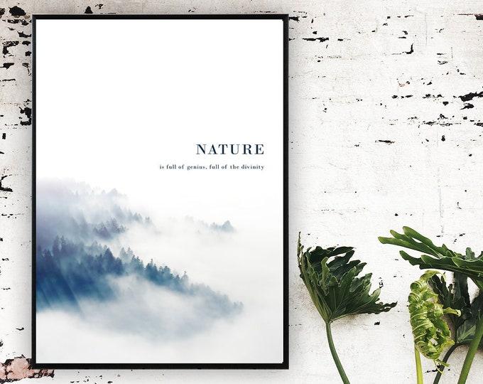 Stampa poster con paesaggio. Arte moderna. Arte astratta. Stampa tipografica.