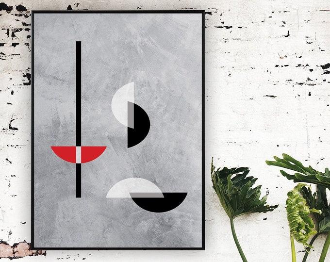 Stampa con arte astratta. Arte geometrica. Stampa tipografica.