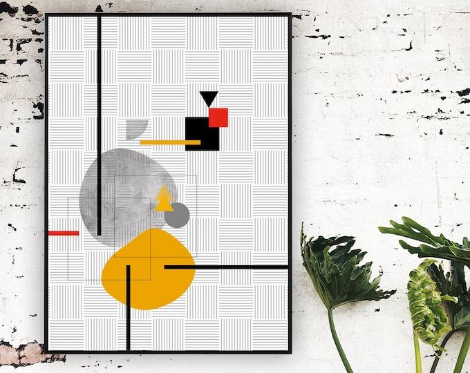 Stampa arte astratta. Poster arte geometrica. Wall decor. Stampa tipografica.