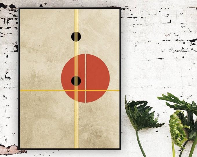 Stampa  con arte astratta. Arte geometrica. Stampa tipografica. Decorazione parete.