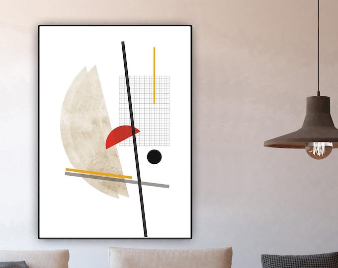Stampa con arte geometrica. Poster con arte astratta. Wall decor. Stampa tipografica.