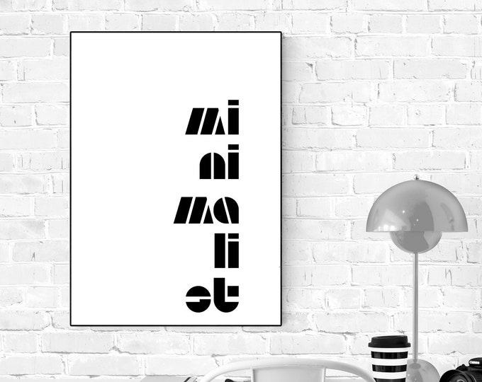 Stampa poster in stile scandinavo: Minimalist. Stampa tipografica. Stampa decorativa murale.