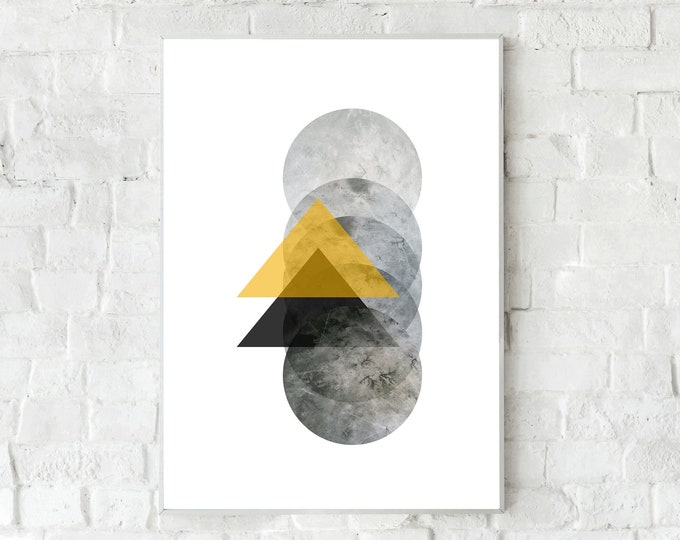 Print with abstract art. Geometric art. Printing typographic. Scandinavian-style print.