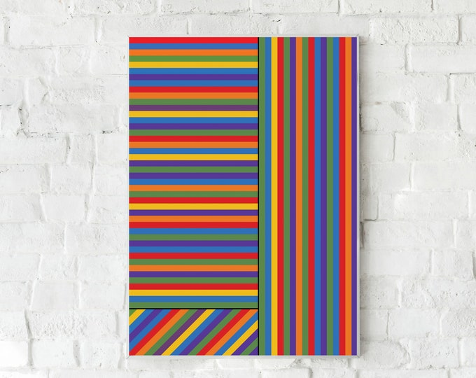 Stampa con arte astratta. Poster con arte geometrica. Arte moderna. Office decor. Home decor.