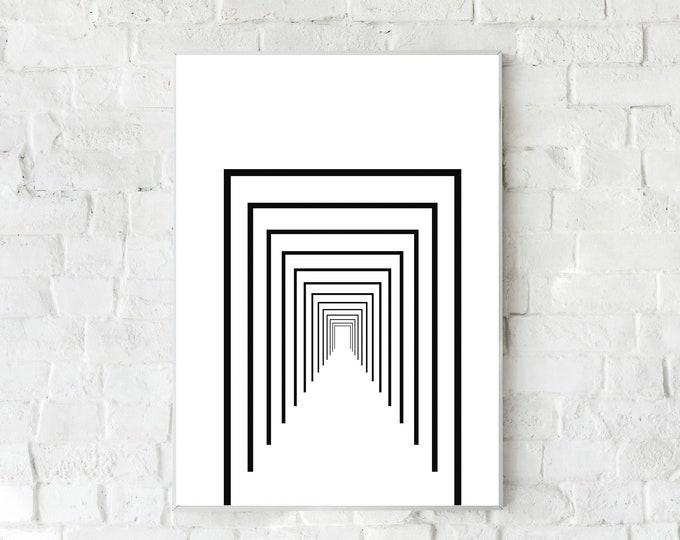 Stampa con arte astratta. Arte moderna. Stampa tipografica. Stile scandinavo. Home decor. Office decor.