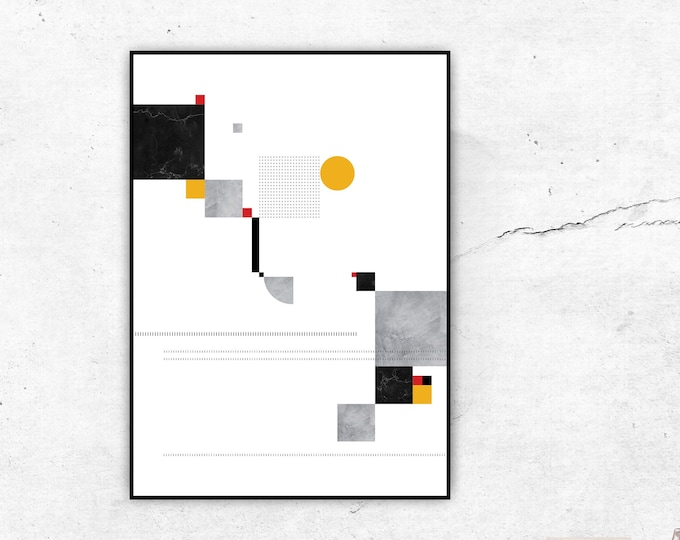 Print with abstract art. Geometric Art Poster. Modern Art. Typographical printing. Scandinavian style. Gift Idea. Nordic style. Wall Art.