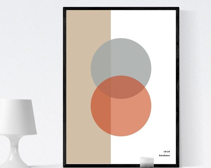 Bauhaus Poster. Stampa tipografica. Stampa stile scandinavo. Regalo per un architetto. Arte moderna. Arredare con stampe.