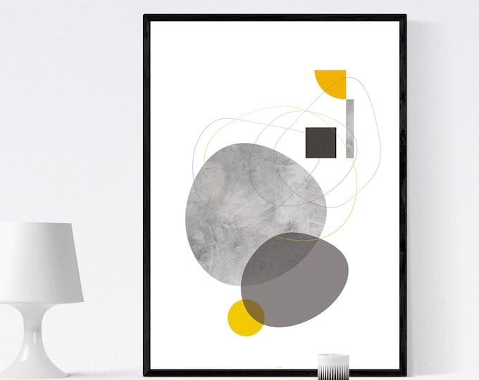Stampa con arte astratta. Poster geometrico. Arte moderna. Stampa tipografica.
