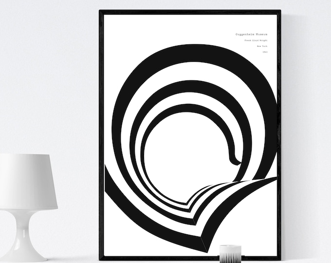 Museo Guggenheim New York. Frank Lloyd Wright. Icona architettura organica. Stile scandinavo.