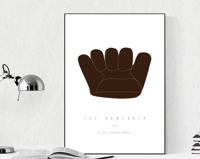 Stampa con Poltrona Joe. Stampa design anni 70. Stampa tipografica. Idea regalo per un architetto.