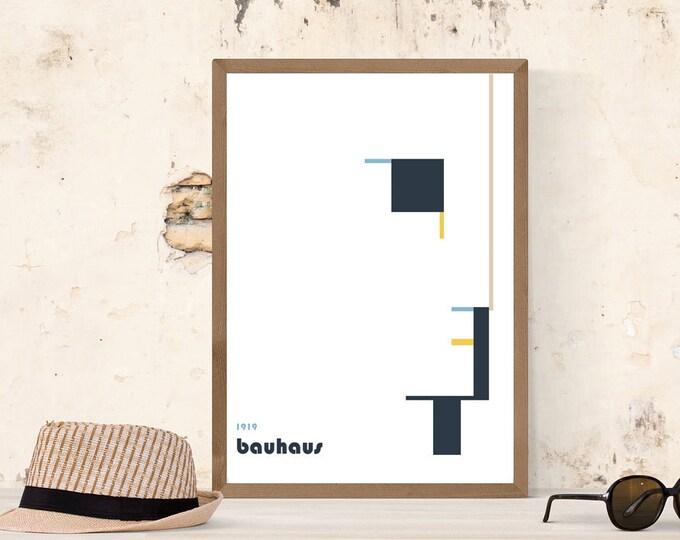 Bauhaus Poster. Stampa tipografica. Stampa stile scandinavo. Regalo per un architetto.