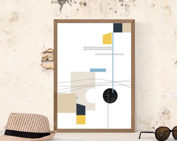 Stampa arte astratta. Poster arte geometrica. Wall decor.