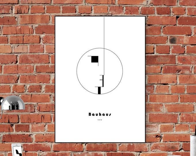Bauhaus Poster. Stampa tipografica. Stampa stile scandinavo. Stampa decorativa da parete.