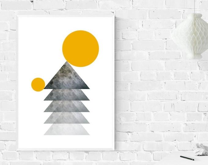 Stampa poster astratto. Poster geometrico. Arte moderna. Stampa decorativa murale.