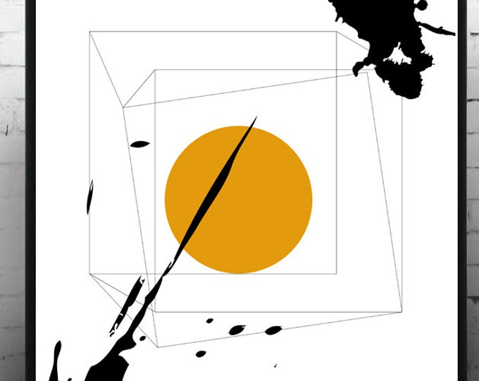 Stampa poster astratto. Poster geometrico. Arte astratta. Arte geometrica. Stampa tipografica. Stile scandinavo. Idea regalo. Stile nordico.