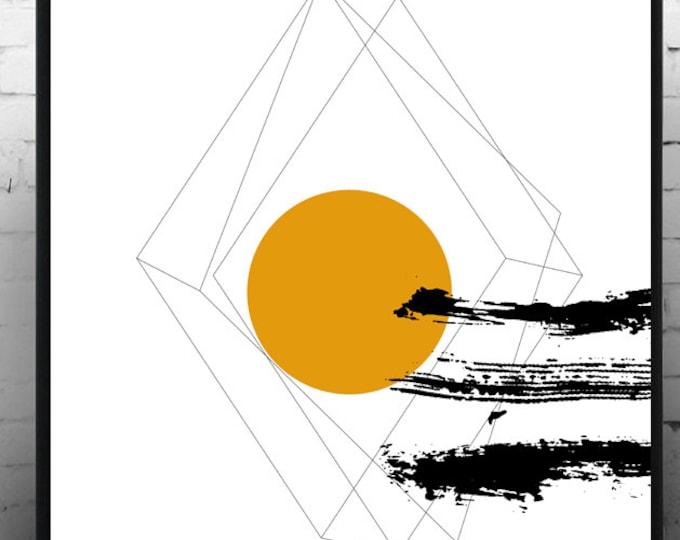 Stampa poster astratto. Poster geometrico. Arte moderna. Arte astratta. Stampa tipografica. Stile scandinavo. Idea regalo. Stile nordico.