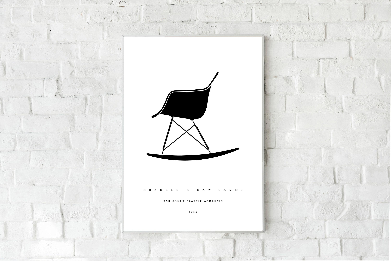 Stampa Plastic Armchair Rar Ray Eames EamesDesign Con Di Charlesamp; Yfb76gy