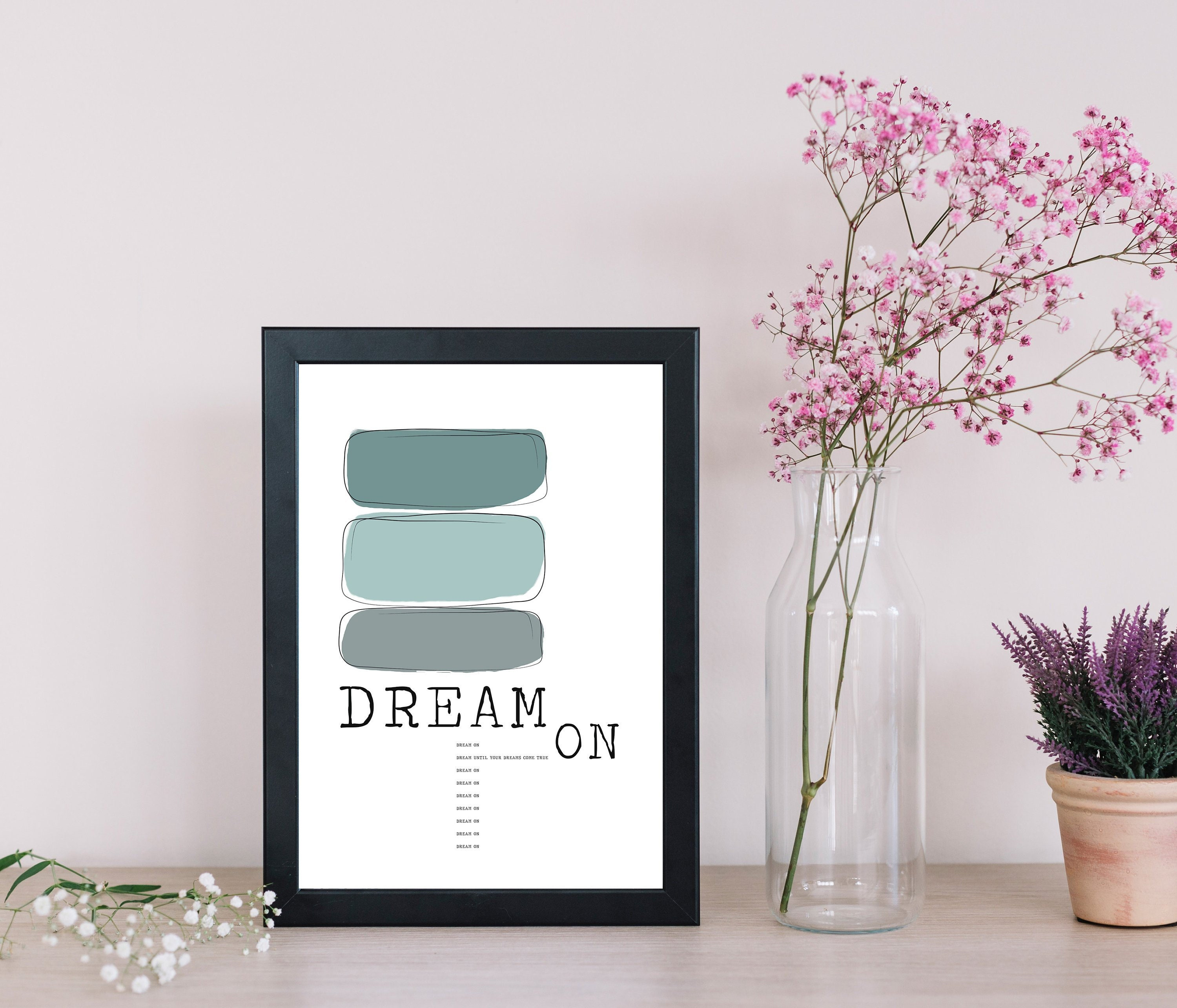 stampa poster dream on arredamento casa stampa