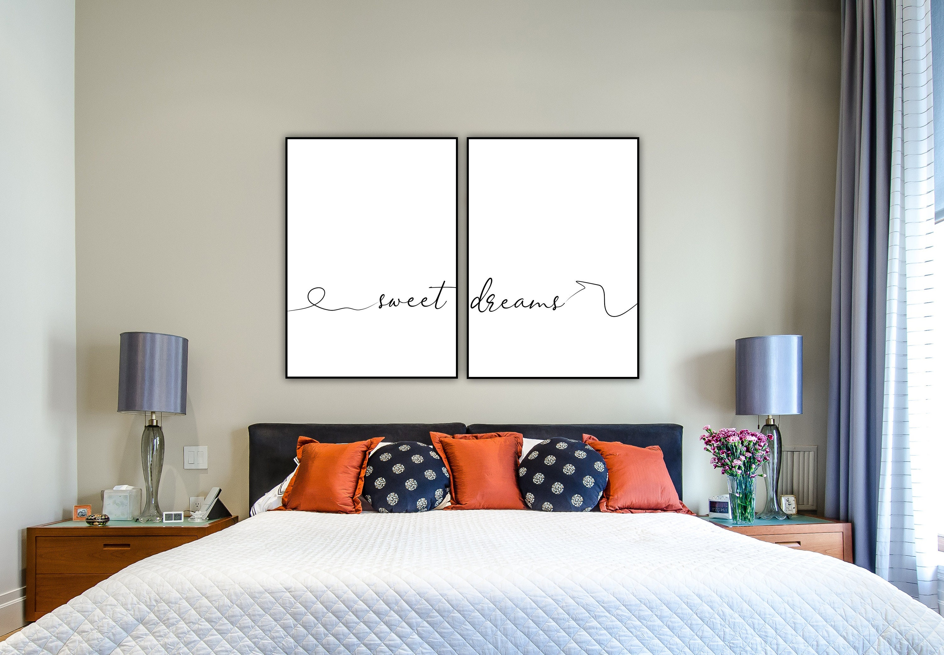 Stampa dittico: sweet dreams. Stampa tipografica. Stampa ...