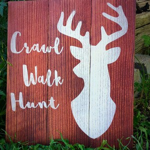 Her Buck His Doe The Hunt Is Over Wood Sign Country Deer Head Wedding Sign Family Sign Engagement Rustic Wedding Decor Save the Date