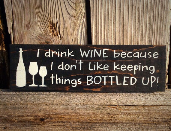 Sign Plaque Gift Alcohol Drinking Breathe Enjoyment Wall decor Enjoy Wine More