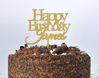 Happy Birthday NAME Cake Topper