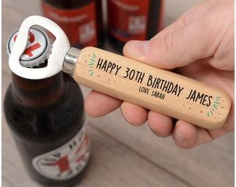 30th Birthday Bottle Opener Gift For Him Son Boyfriend Husband