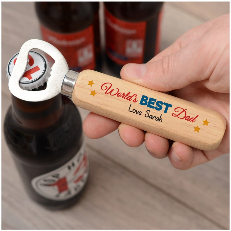 Birthday Bottle Opener Gifts PERSONALISED Best Dad Daddy Grandad ANY NAME