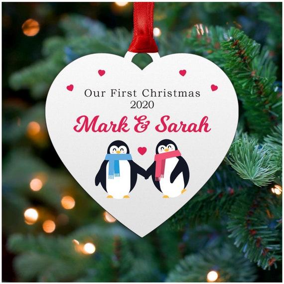 personalised Christmas tree decorations Christmas penguin DEC penguin gift Xmas gift wooden decor xmas tree