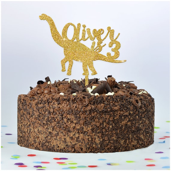 Fine Dinosaur Cake Topper Personalised Dinosaur T Rex Birthday Etsy Personalised Birthday Cards Paralily Jamesorg