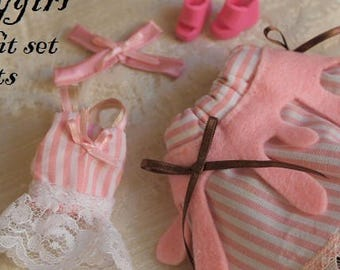 Tsukifly Candy Girl Pullip dress set