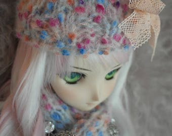 Tsukifly Winter Colors knitted Hat & Scarf Set