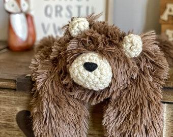 Cappuccino Minky Little Bear Lovey by ClaraLoo