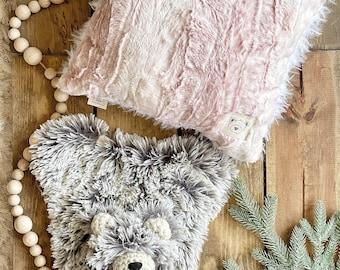 Pink Fawn Pillow - Nursery Pillow Decor