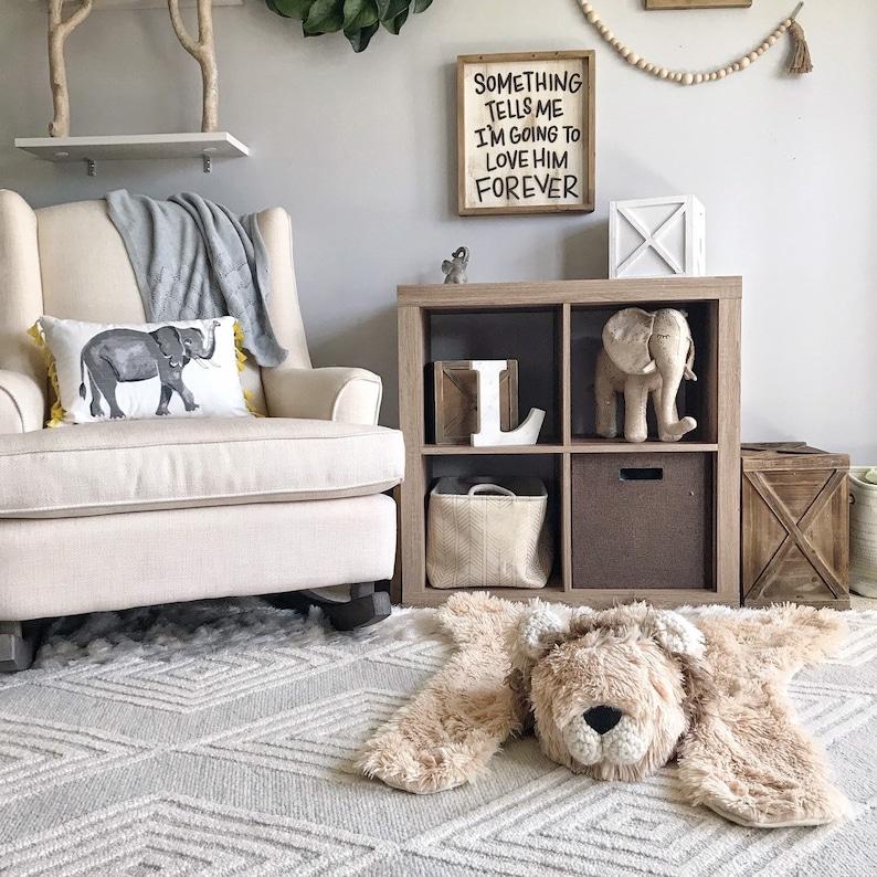 Small size Lion Rug - Safari Nursery Decor - animal rug