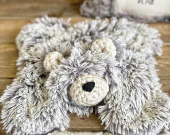 Little Bear Lovey - Grey Frosted