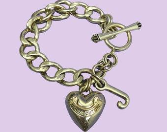 a59b56dd05fb8 Juicy Couture Charm Bracelet   Vintage Bracelet   Vintage Juicy Couture    2000s   Y2K   1990s   90s   Vintage Charm Bracelet   Gold Bracelet
