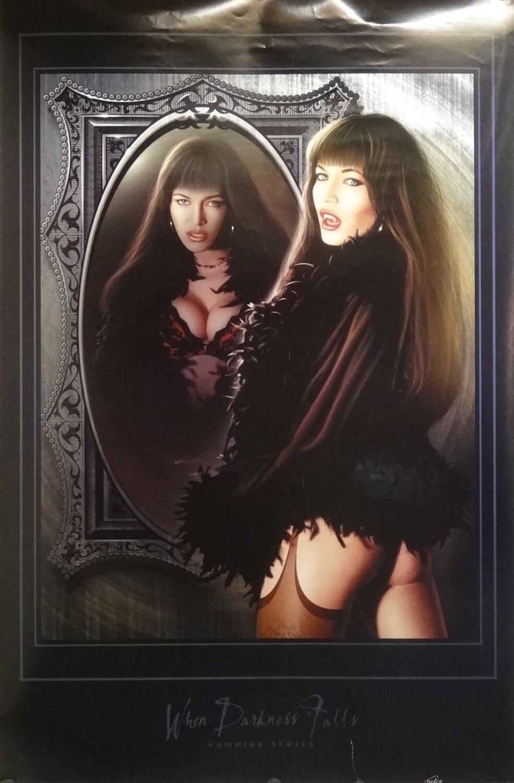 Cuando vampiro oscuridad cae 23 x 35 Pin Up Girl Poster | Etsy