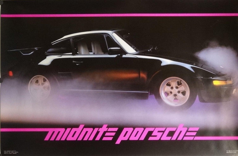 Midnite Porsche 23 x 35 automotriz cartel 1985 | Etsy
