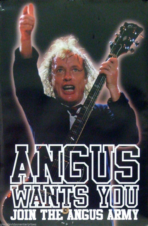 AC/DC Angus Young de 24 x 36 ejército música cartel quiere | Etsy