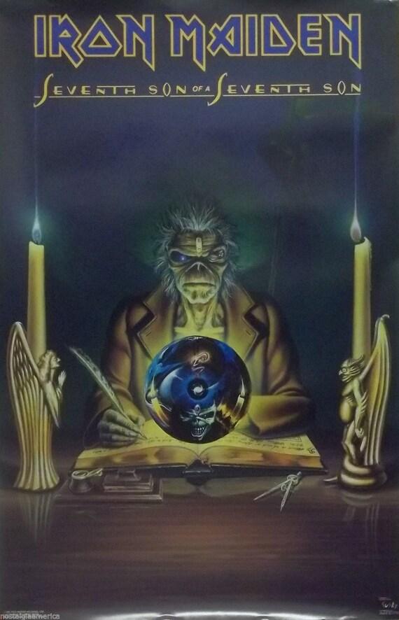 Iron Maiden 23 x 35 séptimo hijo del séptimo hijo cartel 1988 | Etsy
