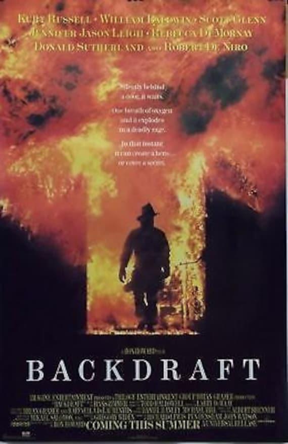 Backdraft 23 x 35 bomberos Movie Poster Kurt Russell Robert | Etsy