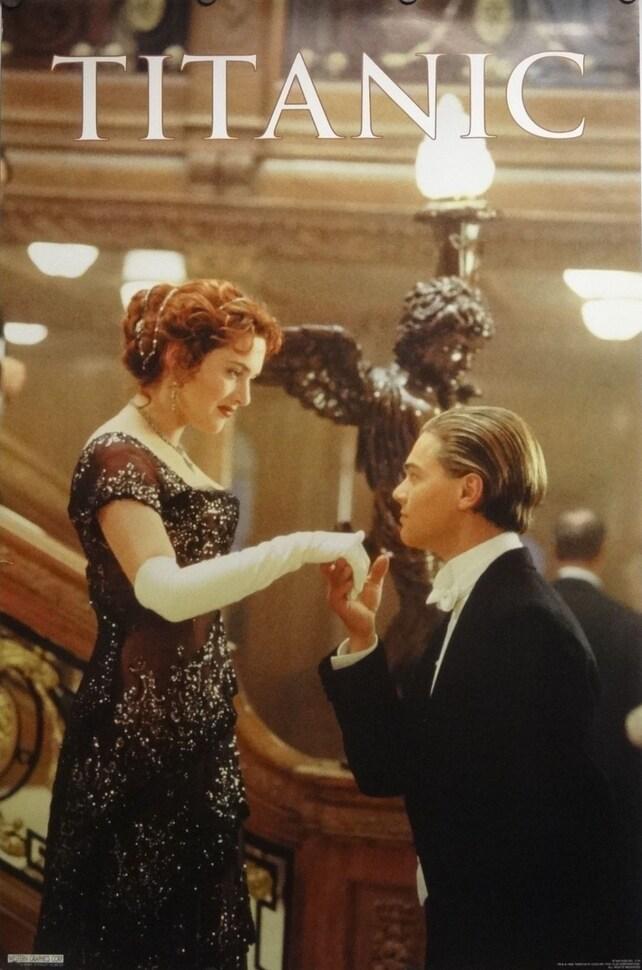 Escalera de 23 x 35 Titanic Kiss Movie Poster Leonardo | Etsy