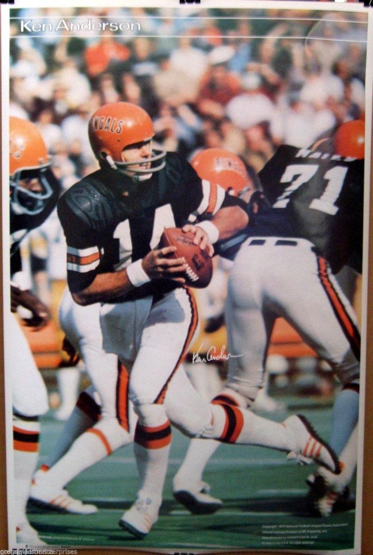 46fb39e8c Ken Anderson 23x35 NFL SI Poster Cincinnati Bengals | Etsy