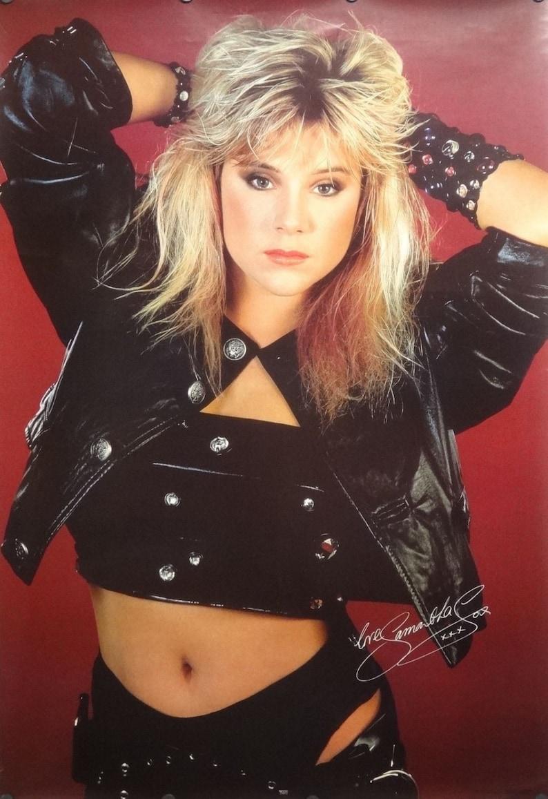 04f34560be4652 Samantha Fox 27 x 39 Sexy schwarzem Leder Poster 1988 | Etsy